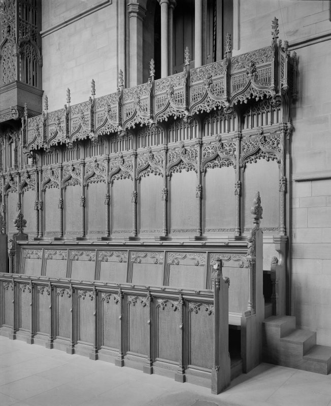 Interior-detail of choir stalls