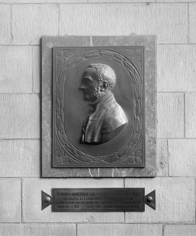 Interior-detail of plaque commemorating Arthur Penhryn Stanley