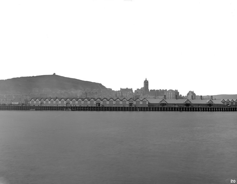 General view of Station and freight warehouses from river