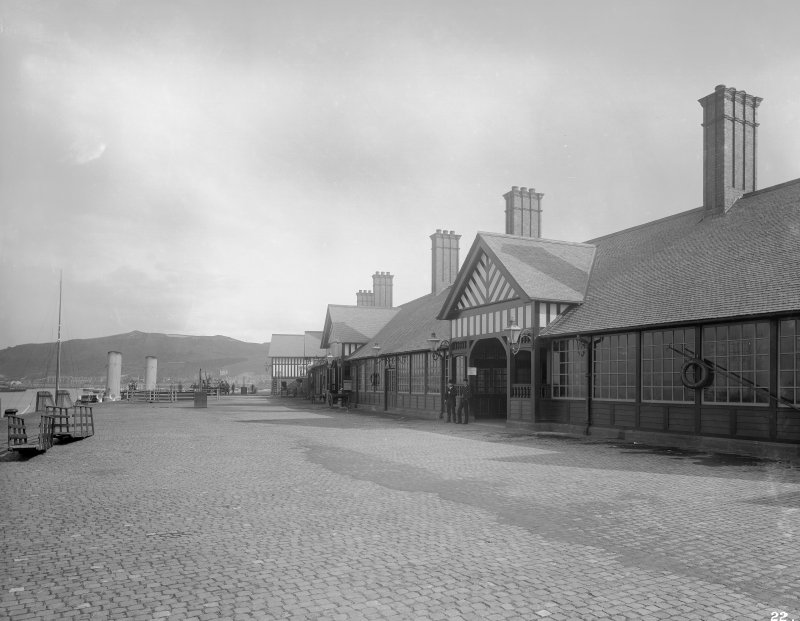 View of Gourock Station and pier.