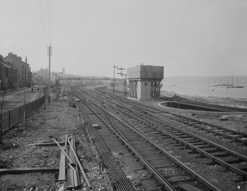 General view of tracks by riverside