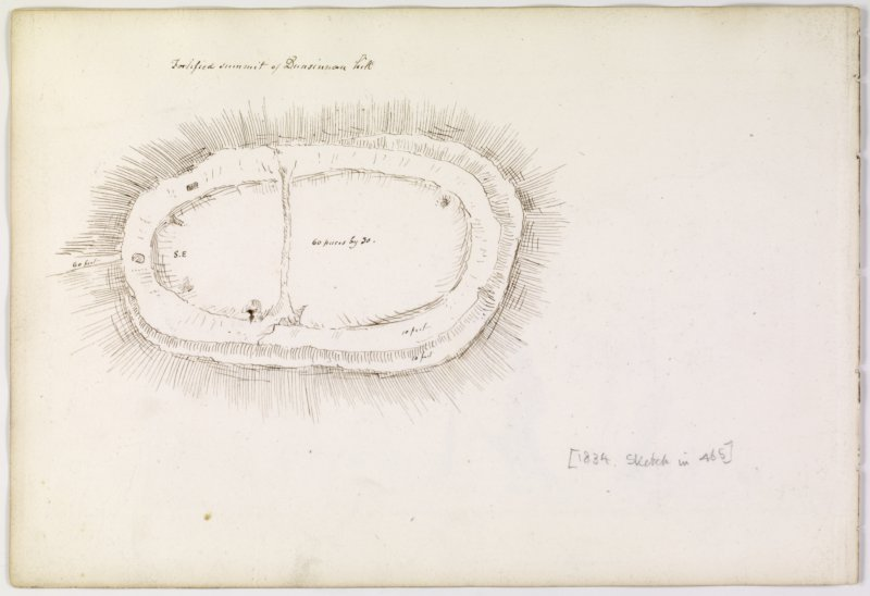 Annotated plan of fort from album, page 67(reverse).  Digital image of PTD/323/1/P.