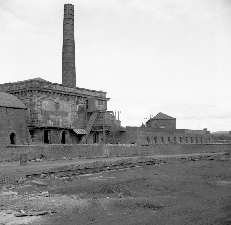 View from West showing blowing engine house and Hoffmann kiln Digital image of B 9330