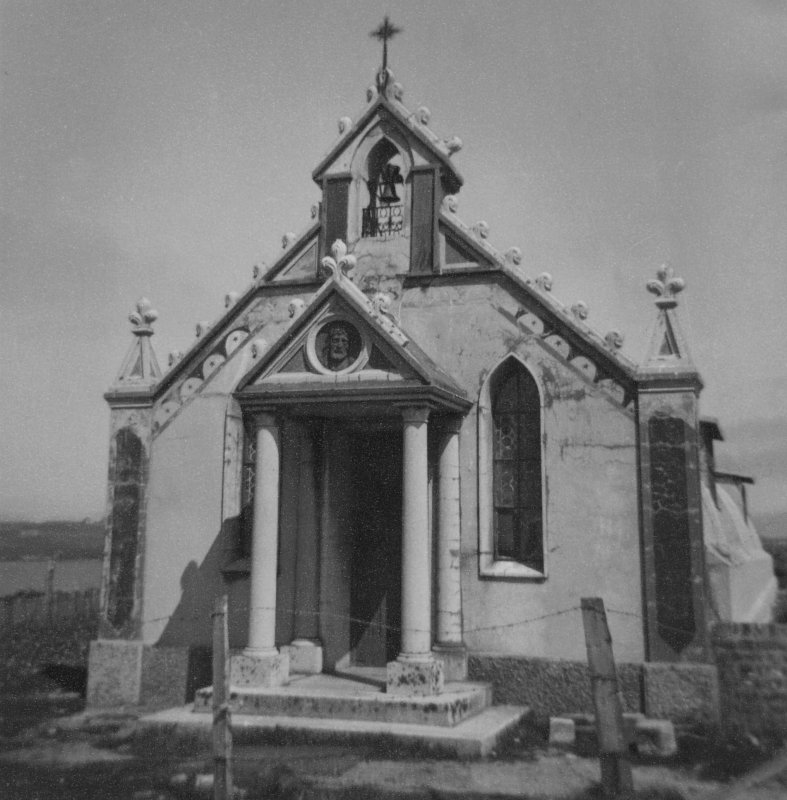 Scanned image of view of the Italian Chapel. Lamb Holm.