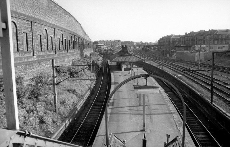View looking SSW showing station with part of tram depot on left