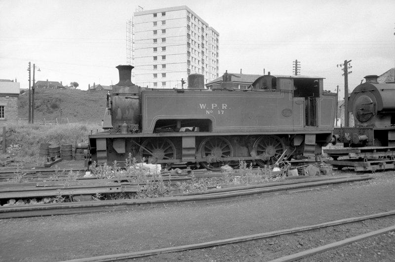 View from SE showing Wemyss Private Railway locomotive number 17 with part of number 16 on right