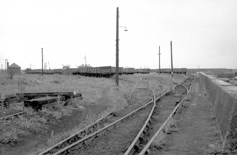 View looking ESE showing coal wagons in coal sidings