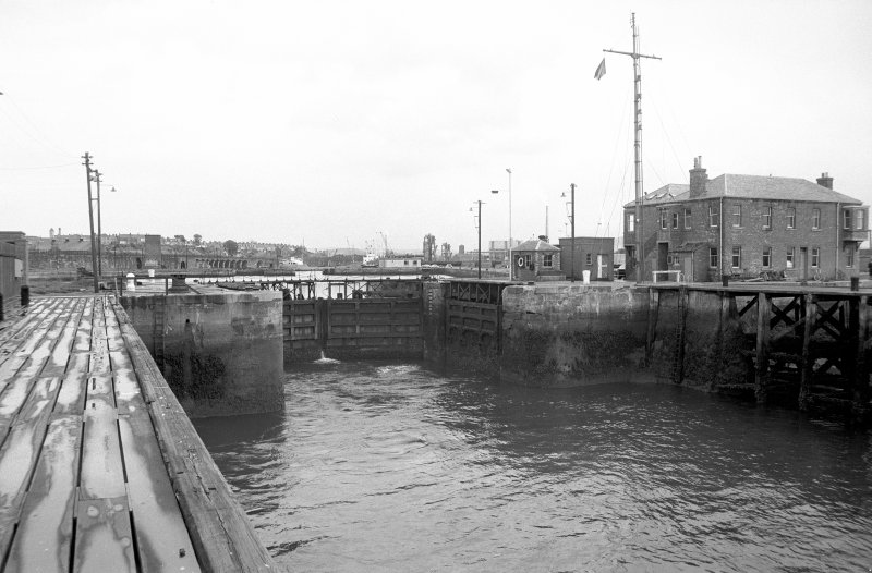 View from SW showing SSW front of dock gate for number 2 dock