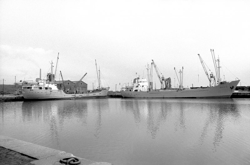 General view looking ENE showing coasters in number 1 dock