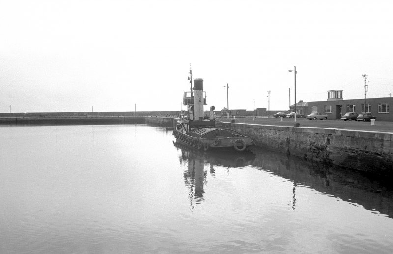 General view looking SE showing tug 'Dundas' in number 3 dock