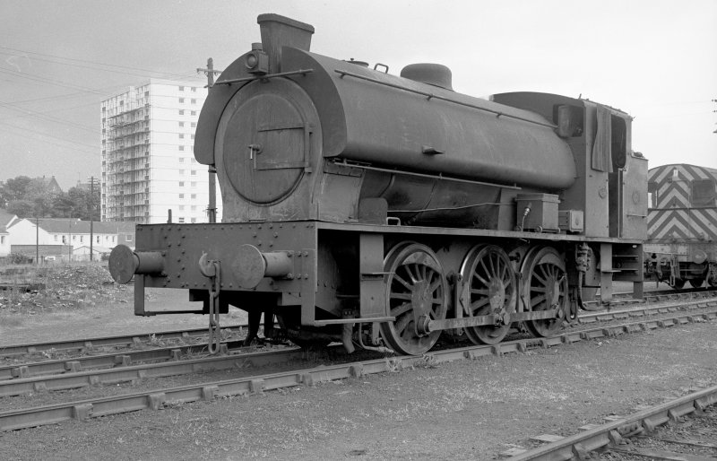 View from SSW showing NCB Hunslet 0-6-0ST (with giesel ejector) locomotive