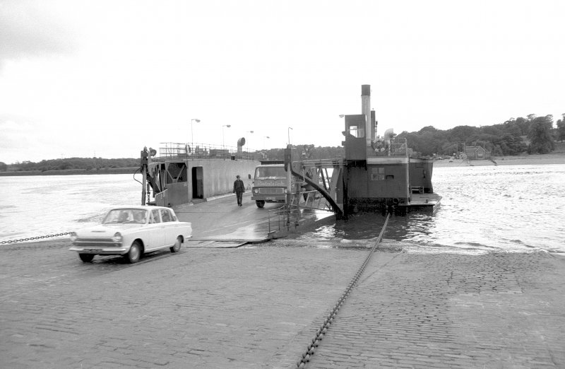 View looking SSW showing ferry at N bank