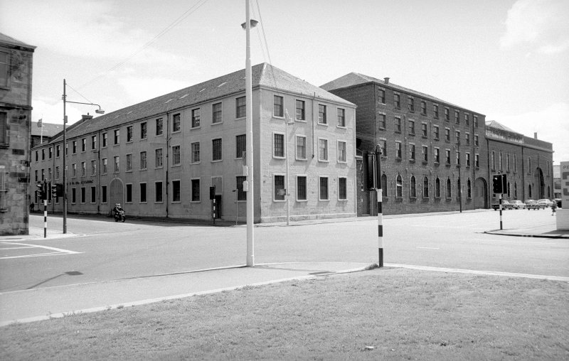 General view from NNW showing WNW front (West Street front) and NNE front (Cook Street front)