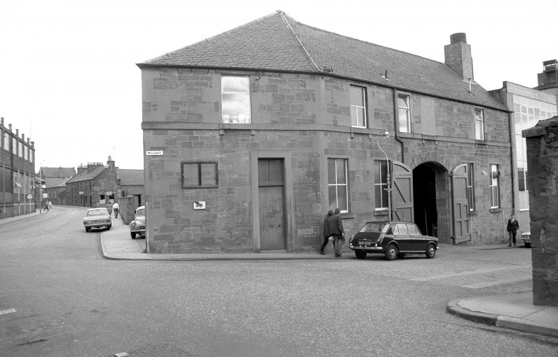 View from SSW showing block on corner of Wellgate and Stobcross (may formerly have been part of Westburn Works and is now main office block for foundry).