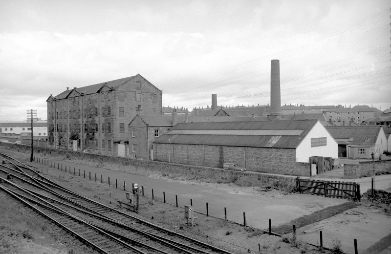 View from SSW showing WSW front of Baltic Works with works on right