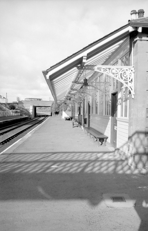 View looking WSW showing awning of up platform building