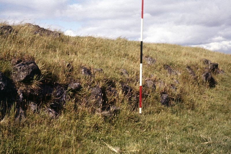Copy of colour slide showing detail of Duncarnock Hill Fort, Renfrewshire; detail of main wall on west side NMRS Survey of Private Collection Digital Image only