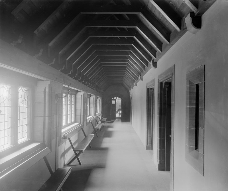 Interior - view of passage linking church halls to church