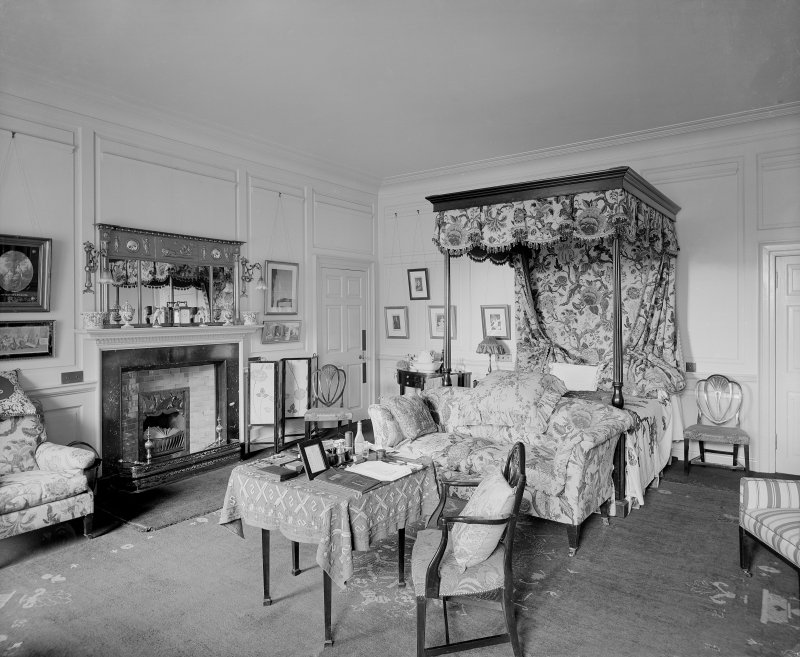 Interior-general view of Bedroom showing four poster bed