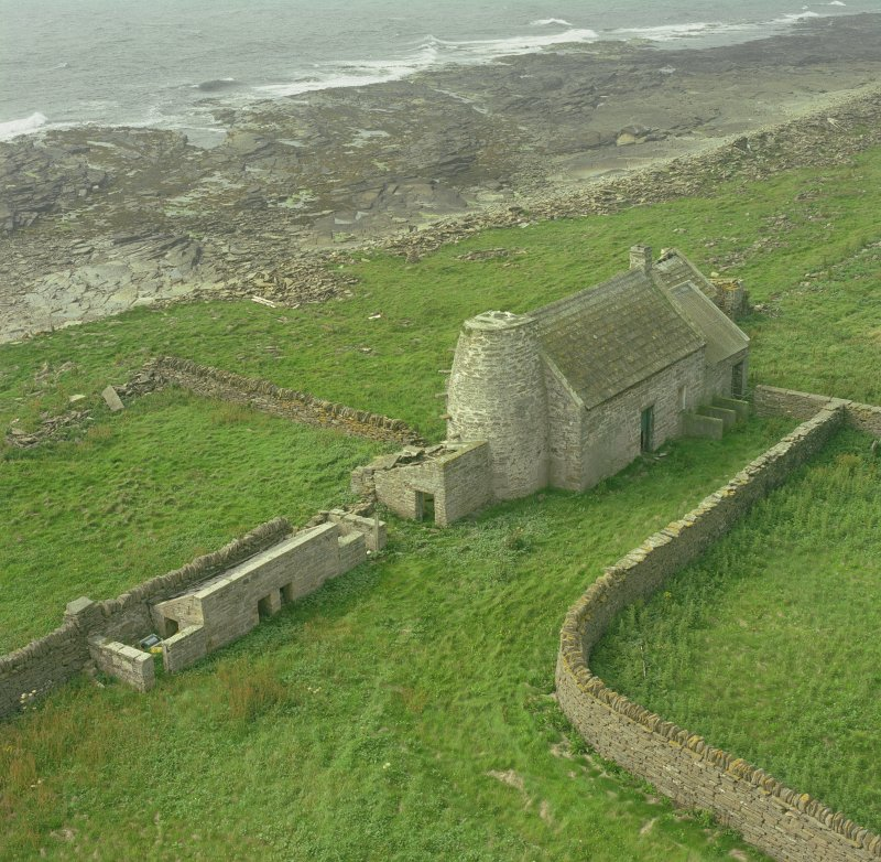 View of steading from top of lighthouse to NW of steading. Digital image of C 78294 CN