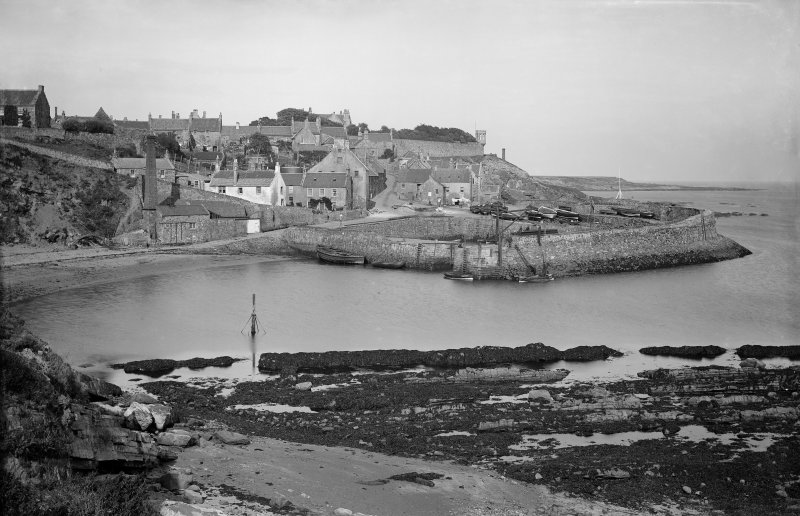 Crail, Shoregate and Harbour. View from south east.