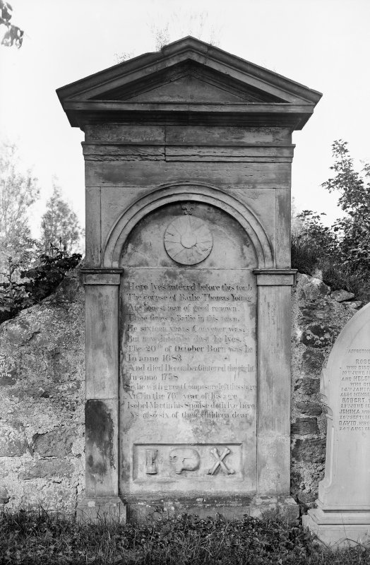 Crail, Marketgate, Churchyard. Bailie Thomas Young tombstone.