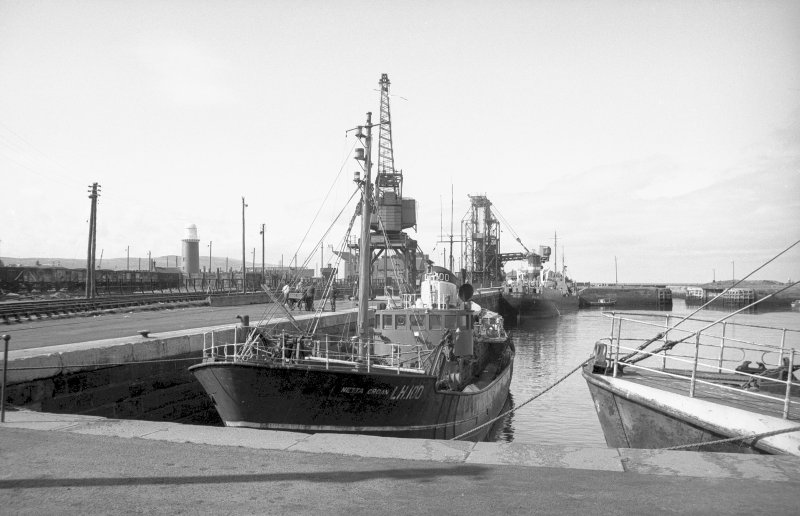 View from NE showing trawler in dock