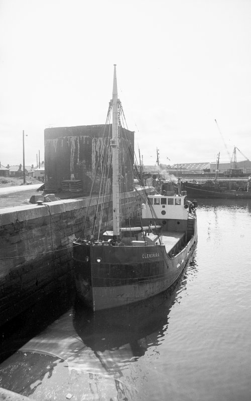 View from NNW showing 'puffer' called Glenshira in dock