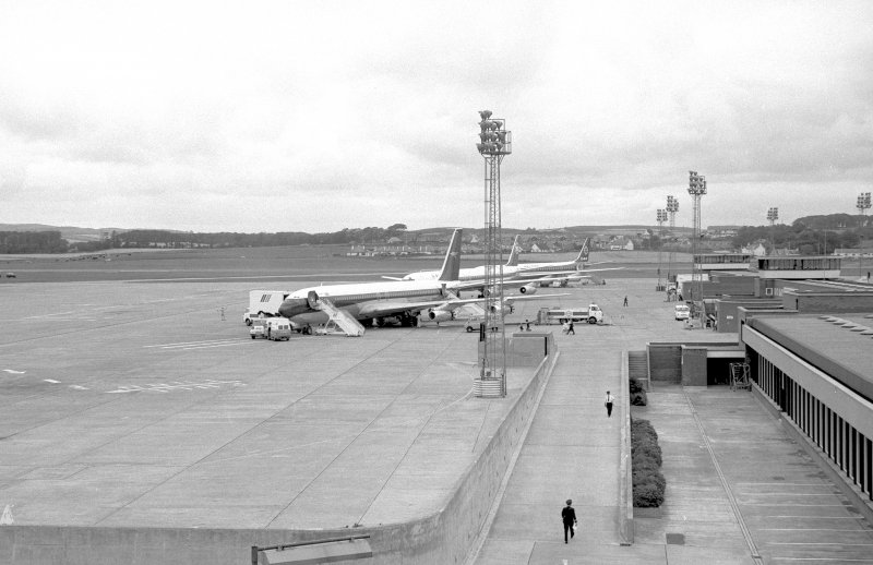View looking NE from terminal building showing aircraft