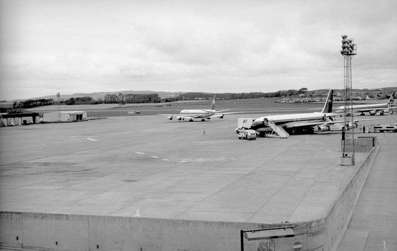 View looking NNE from terminal building showing aircrafts