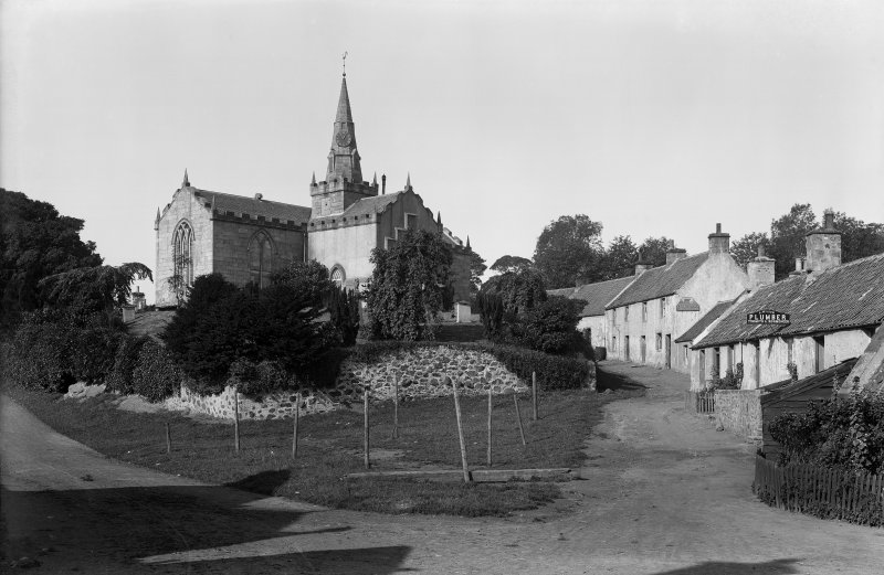General view looking towards church