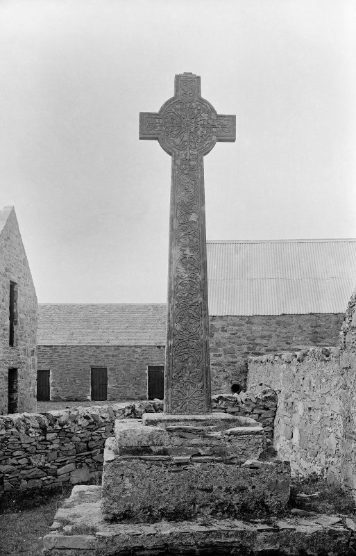 Oronsay Priory, Great Cross. General view from East.
