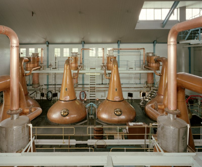High-level interior view of Still House from SSE, Tormore Distillery