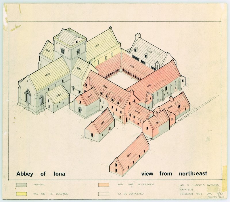 Plan of isometric view of complete restoration.