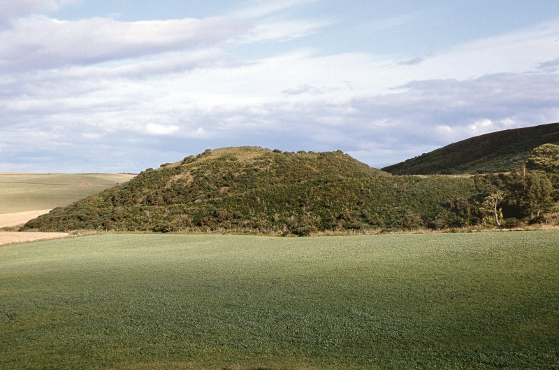 "Copy of colour slide showing view of possible Dun ""enclosure"" Easter Rarichie near Tain view from NW, AP329,  NMRS Survey of Private Collection, Digital Image only."