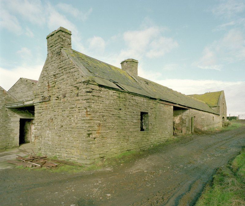 General view of East range of steading from South East. Digital image of D 23952 CN