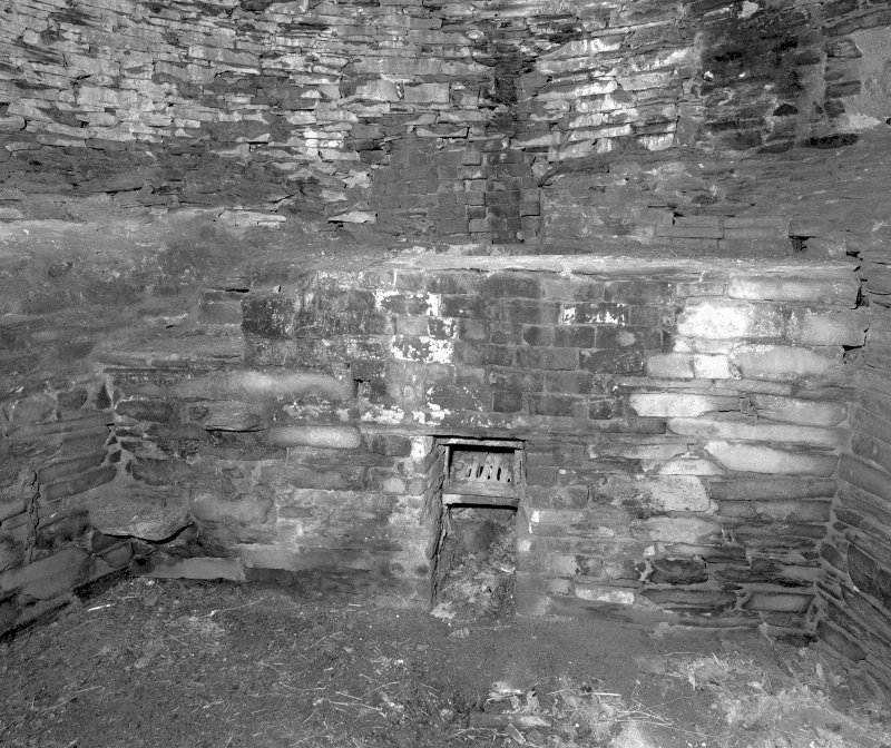Kiln interior, view of platform and hearth. Digital image of D 23983