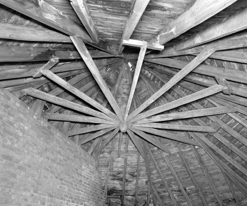 Horse Gin, view of interior roof structure. Digital image of D 23991
