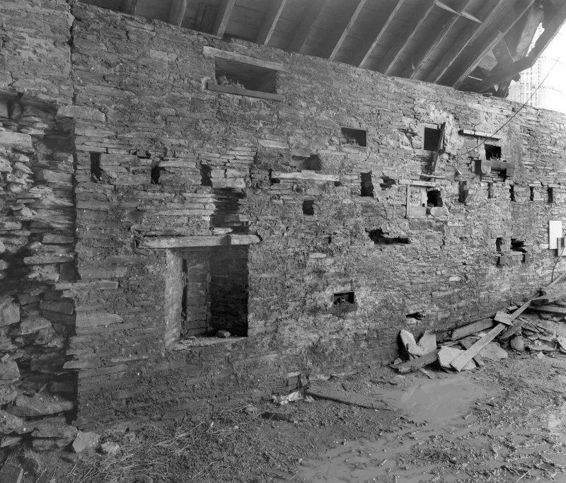 View of interior of threshing barn from South East. Digital image of D 31016