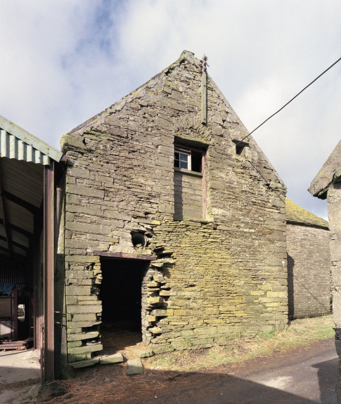 View of East gable of threshing barn from South East. Digital image of D 31019 CN