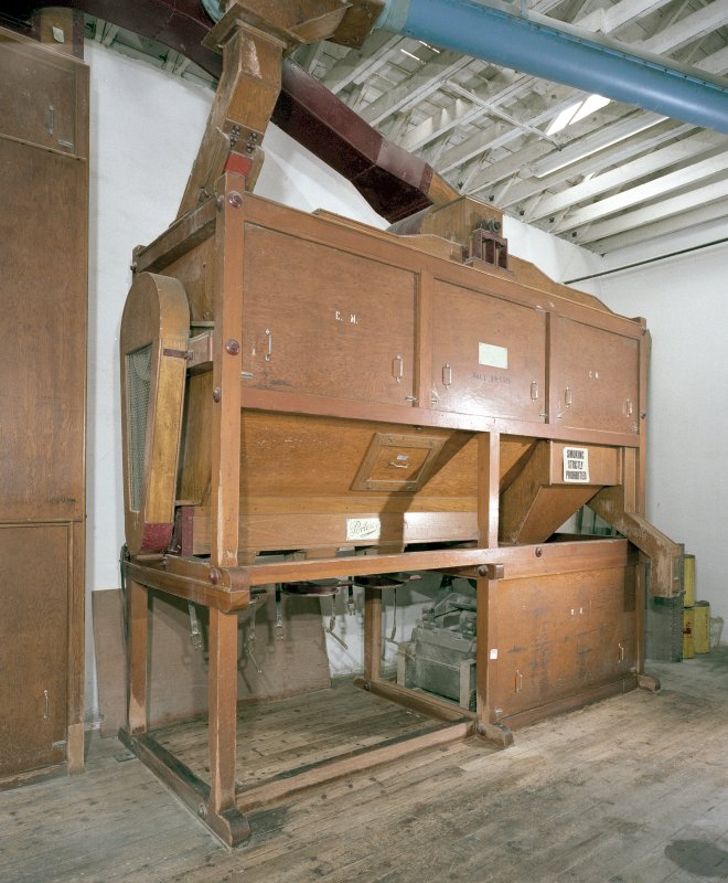 Mill House: view of malt-dressing machinery, manufactured by Porteus of Leeds Digital image of C 19617 CN