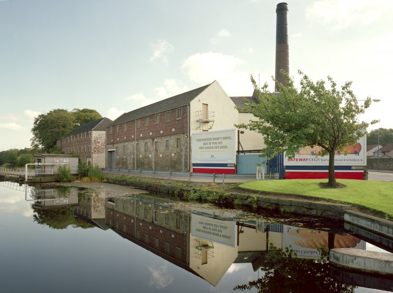 General view of distillery across Forth Clyde Canal basin from W Digital image of C 19622 CN