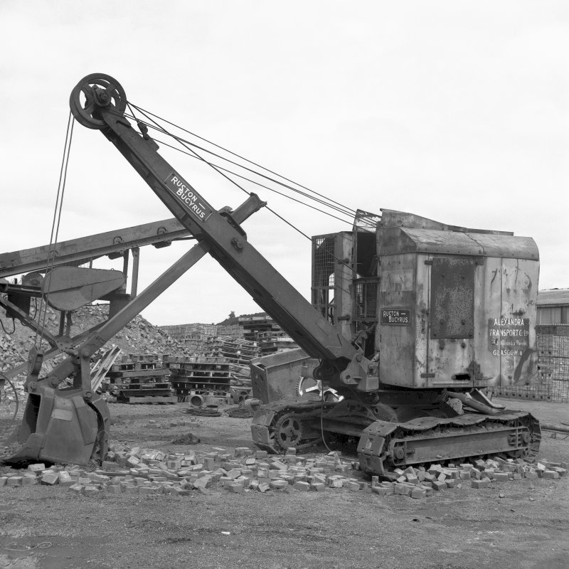 View of Ruston-Bucyrus excavator, formerly owned by Alexandra Transport Co Ltd Digital image of B/9375