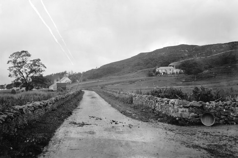 Portnacroish. View of Strathappin House and Episcopal Church of St Cross