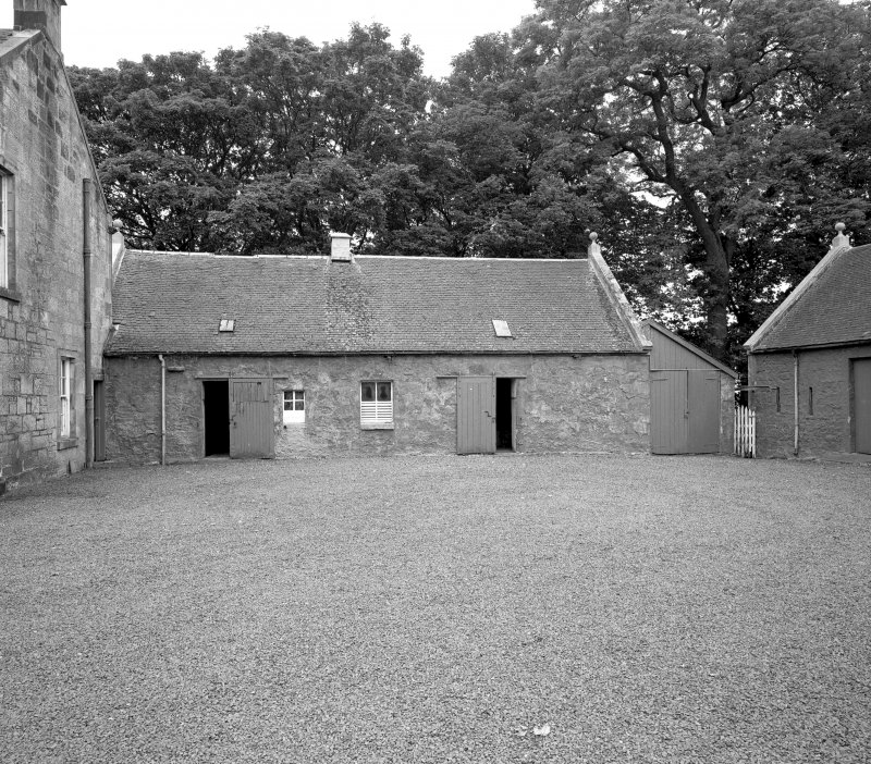 View of byre and stables from East. Digital image of C 44451