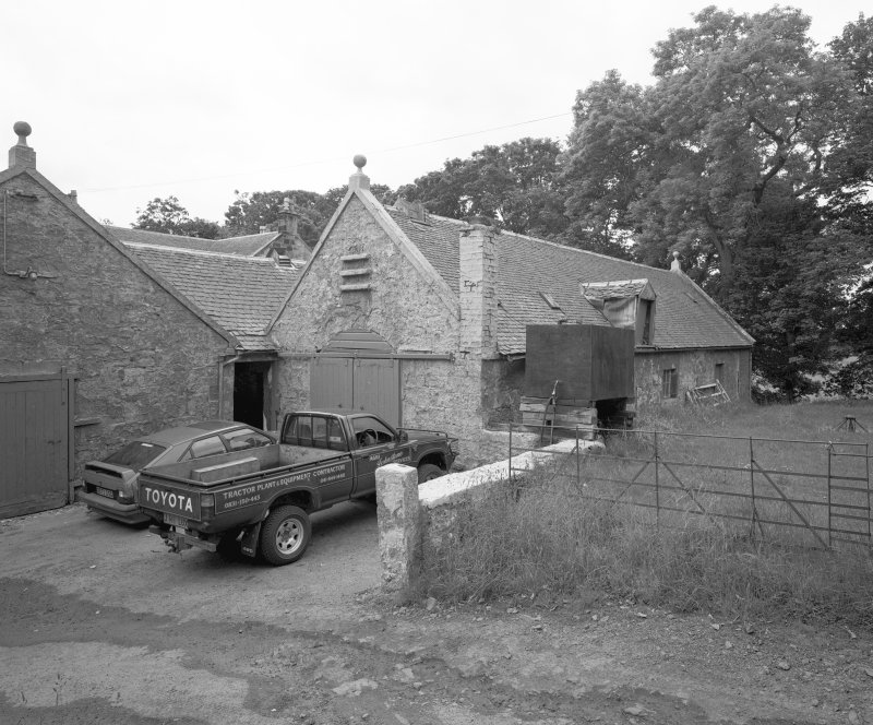 View of threshing barn from North-East. Digital image of C 44454