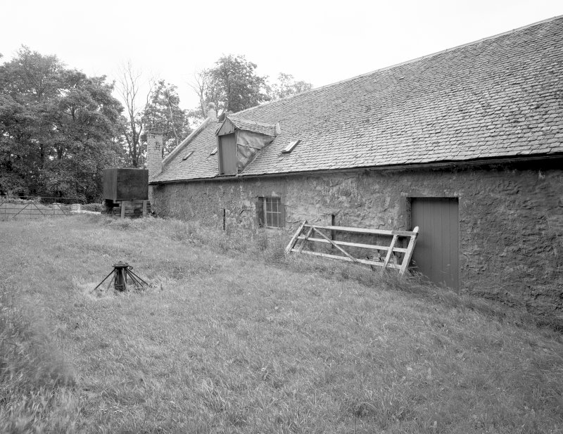 View of threshing barn from West. Digital image of C 44455