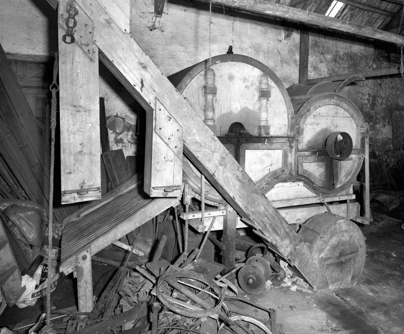Interior. General view of threshing machine. Digital image of C 44460