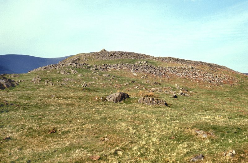 Copy of colour slide showing view of Dreva Fort, Peeblesshire - view from SW showing chevaux de frises NMRS Survey of Private Collection Digital Image only