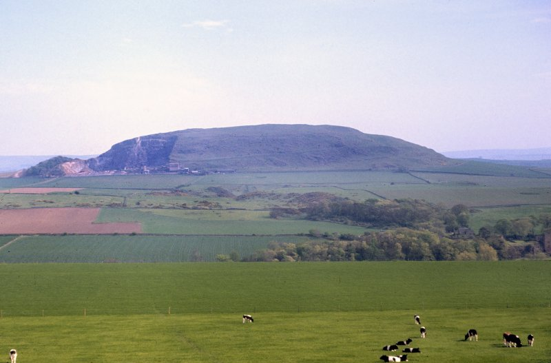 Copy of colour slide showing view of Traprain Law East Lothian from Pencraig wood on A1 road (NNW) NMRS Survey of Private Collection Digital Image only